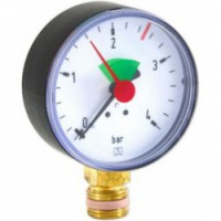 "Манометр для систем отопления тип HZ Afriso RAD, 80мм, 0-4 бар, 1/2"""