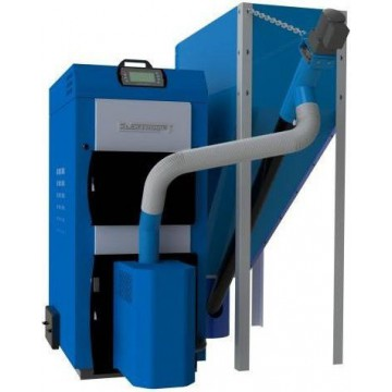 Твердотопливный пеллетный котел Elektromet EKO-PE Dual 35 kW (бункер 310 л.)