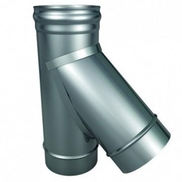 Тройник для дымохода из нержавейки 45° ТиС, РФ