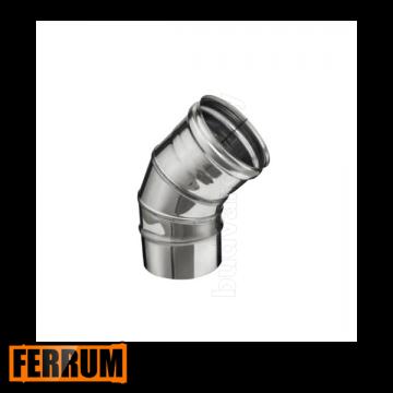 Колено дымохода из нержавейки 135° 3 секции Ferrum, РФ
