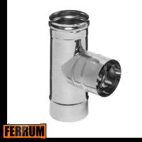 Тройник дымохода одностенный 90° Ferrum, РФ