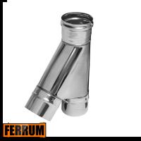 Тройник дымохода одностенный 45° Ferrum, РФ