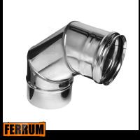 Колено дымохода из нержавейки 90° Ferrum, РФ