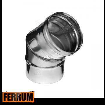 Колено дымохода из нержавейки 135° Ferrum, РФ